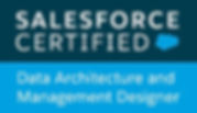Salesforce certified Data Architecture and Management Designer badge