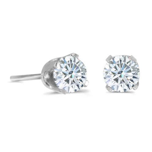 14K White Gold .20ct Diamond Stud Earrings