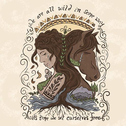 Wild Woman- Postcard