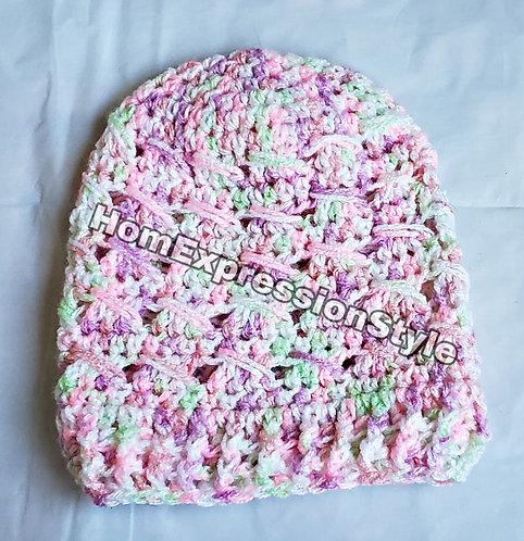 Summer Crochet 3-6 Months Beanie and Dress Set
