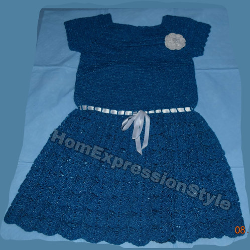 Kind of Blue Dress (Size 3T)