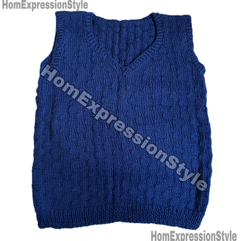 Royal Blue Adult Sweater Vest (Size Medium)