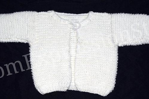 Snowy Fields Baby Sweater (0-3 Months)