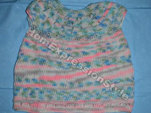 Multi-color Short-Sleeved Dress (6-9 Months)