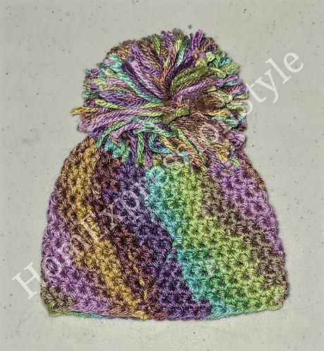 Colors of the Earth Preemie Pom-Pom Beanie