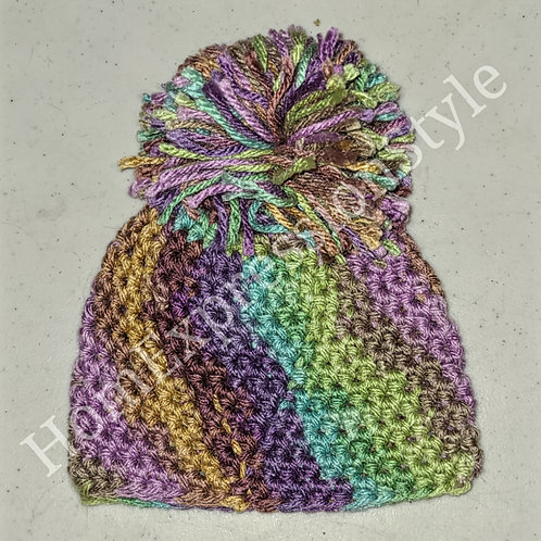 Colors of the Earth Preemie Pom-Pom Beanie