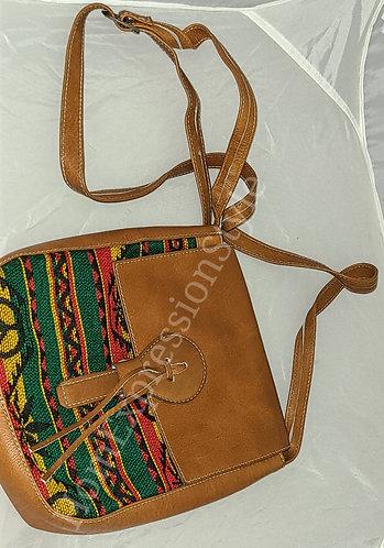 Ecuadorian Rasta Leather Satchel