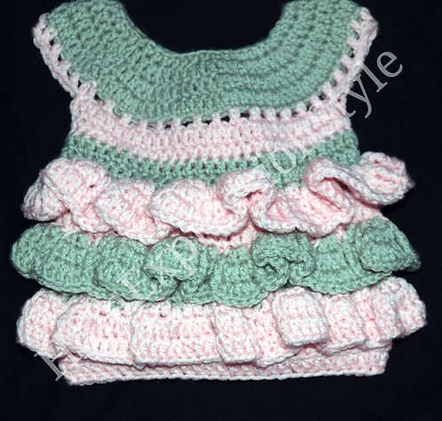 Ruffle Me Up Baby Dress (0-3 Months Old)