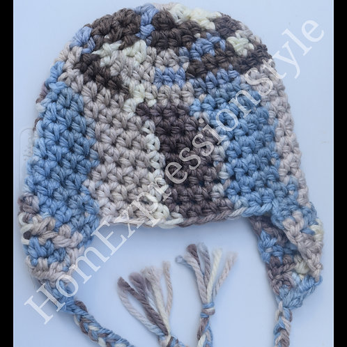 Streak of Blue Toddler Beanie