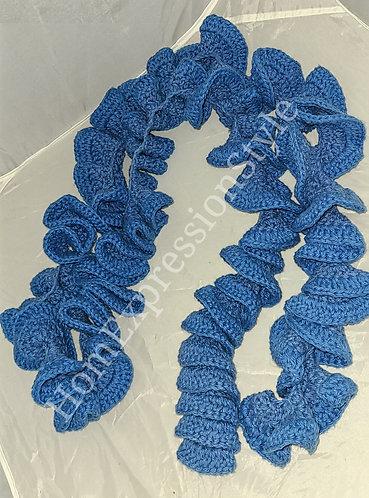 Powder Blue Layered Crocheted Scarf