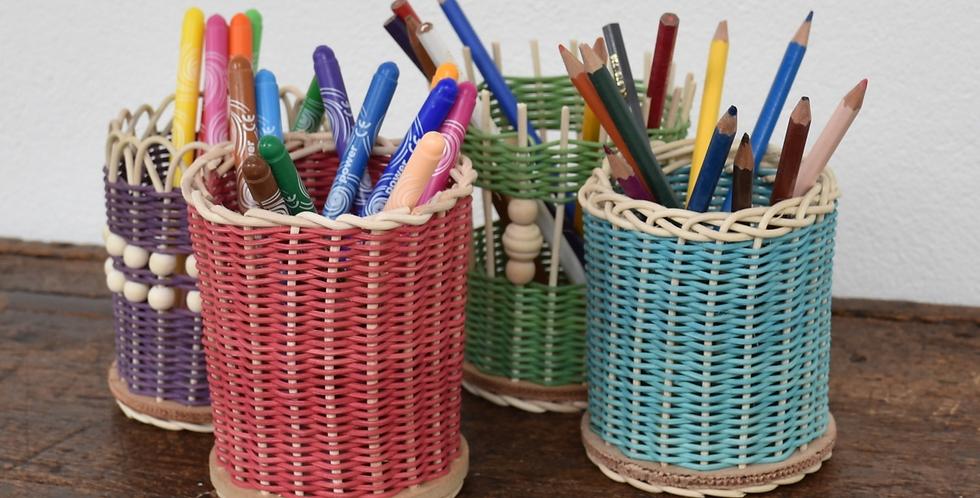 Kit Vannerie - pot à crayon