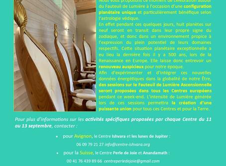 Evénement septembre 2020 : Conférence et Harmonisation commune à tous les Centres du Fauteuil !