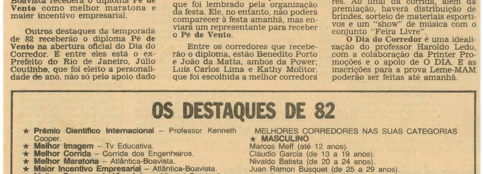 Corrida Dia do Corredor - 21/4/1983