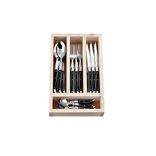 Laguiole Set 24 piezas Negro