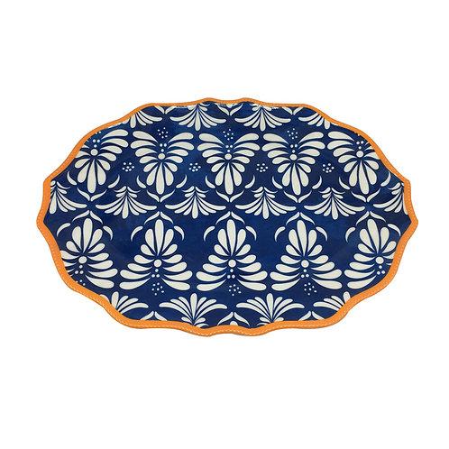 Klapp Plato Ovalado 40 cm Azul