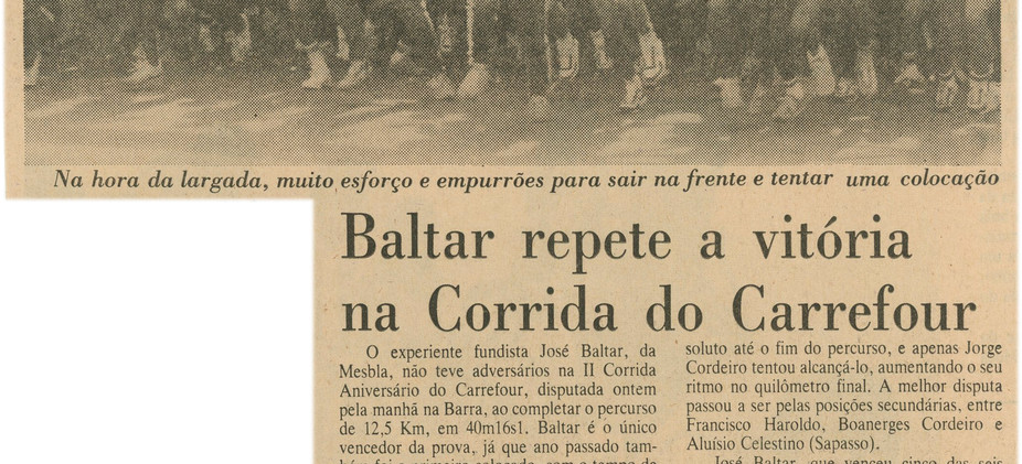 II Corrida do Carrefour 13/11/1983