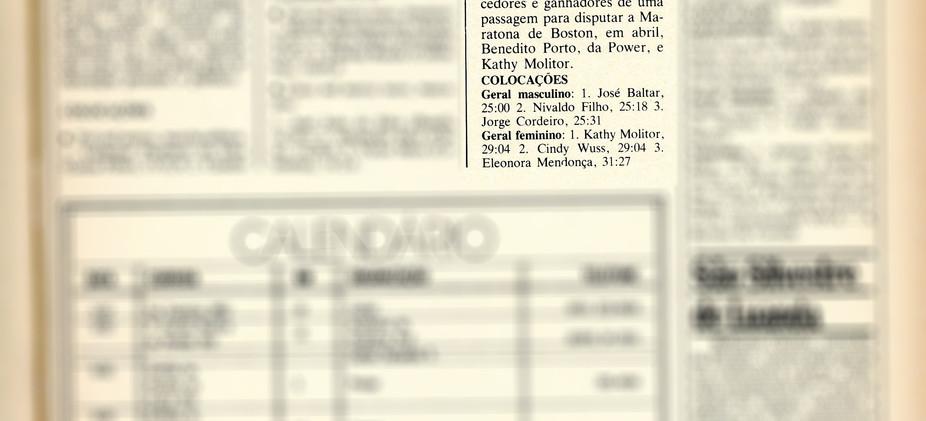 V Corrida Internacional Leblon-Leme - 02/01/1983