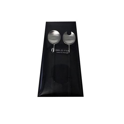 Belo Inox Cubierto Ensalada Negro 2 piezas