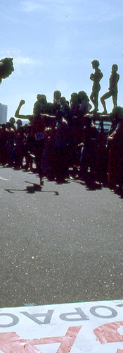 Espectadores apoiam corredores