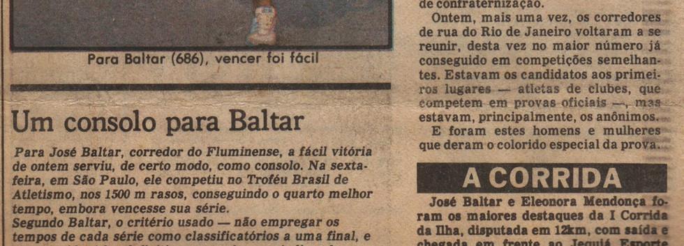 I Corrida da Ilha do Governador - 25/05/1980 - Jornal O Globo