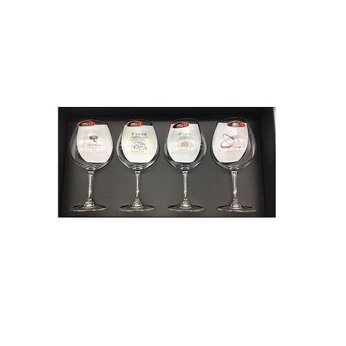 4 Copas Pinot Noir  + Invitación a Cata de copas