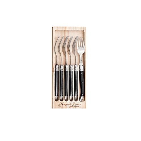 Laguiole Set 6 tenedores Negro