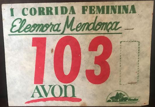 Homenagem - I Corrida Feminina Eleonora Mendonca - Avon - Numero.jpg