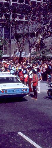 Rádio patrulha cruza a linha de chegada