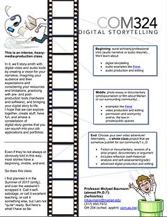 Digital Storytelling syllabus