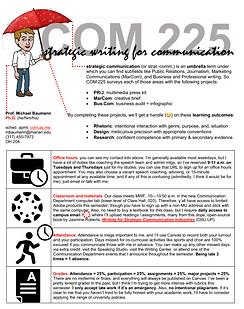Communication 225 (Strategic Writing) syllabus