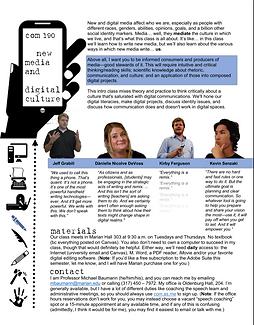 Communication 190 (New Media and Digital Culture) syllabus