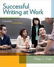 Successful Writing at Work by Philip C. Kolin (textbook cover)