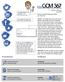 English and Communication 367 (Writing and New Media) syllabus