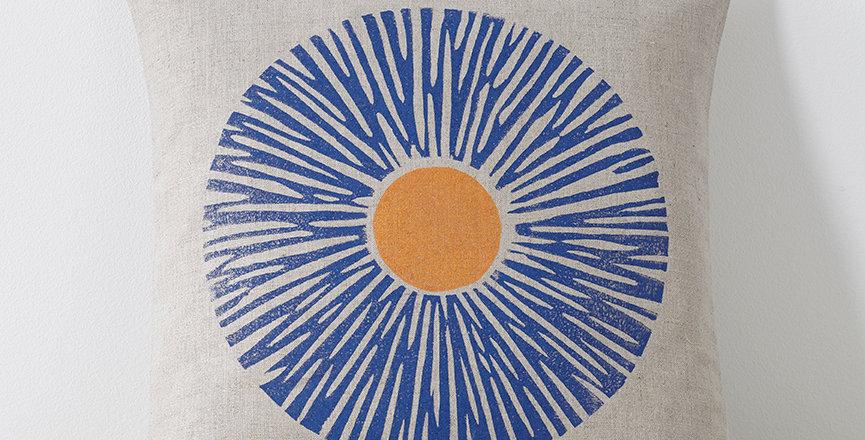 Big Daisy  (Blue/Orange)