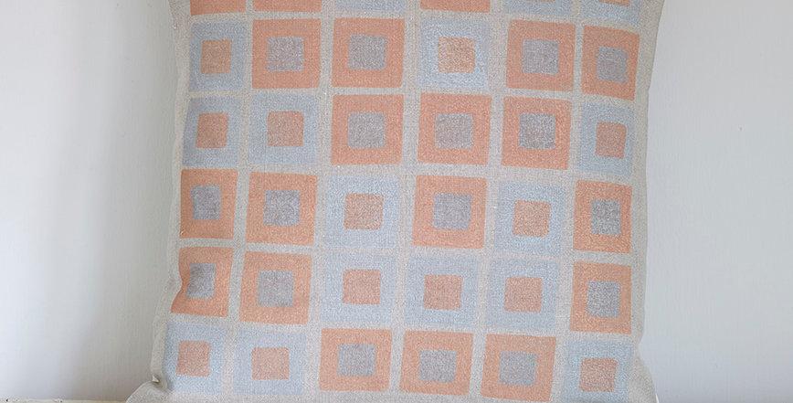 Square Squares  (Pink/Grey)