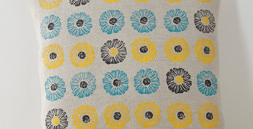 Small Daisies  (Yellow/Blue/Charcoal)