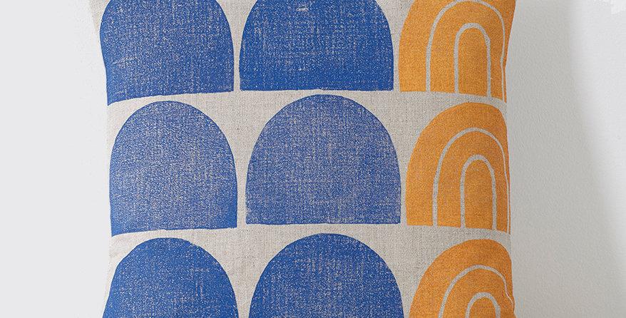 Hills & Contours (Blue/Orange)