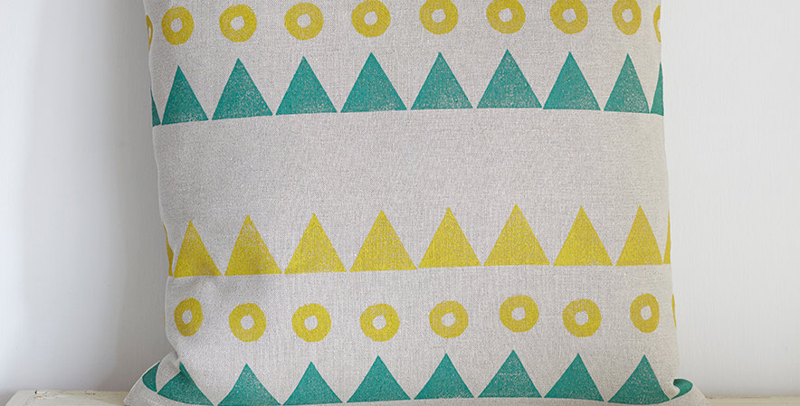 Moons & Mountains 1  (Ochre/Teal)