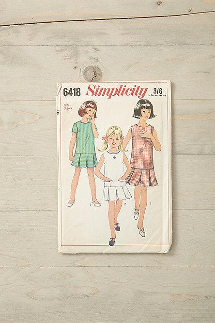OK4926 - Vintage Girl's Dress Pattern