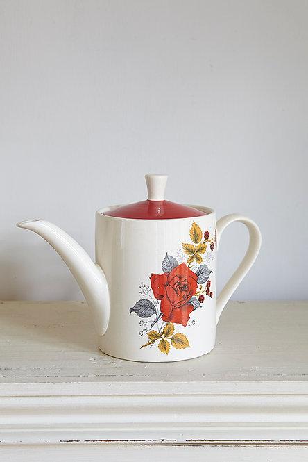 OK4690 - Red Rose Teapot