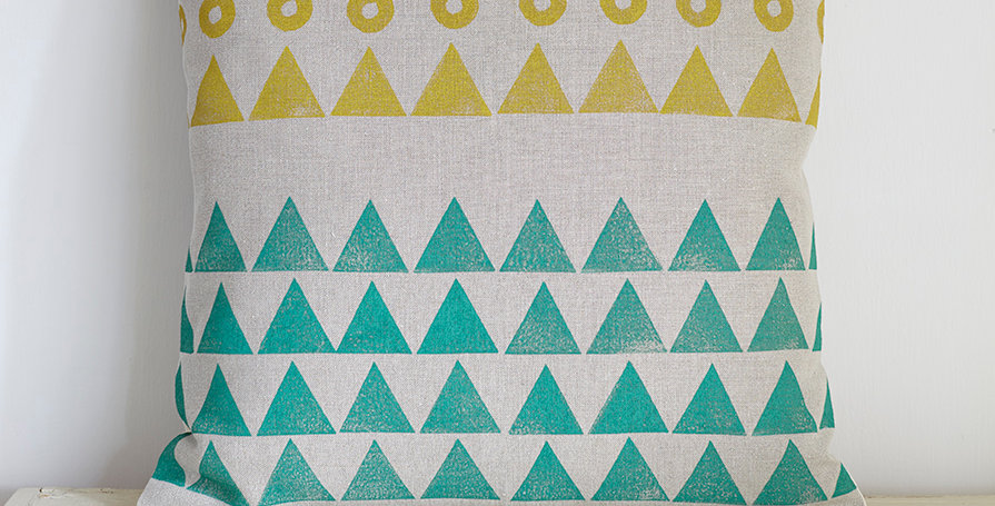 Moons & Mountains 2  (Ochre/Teal)