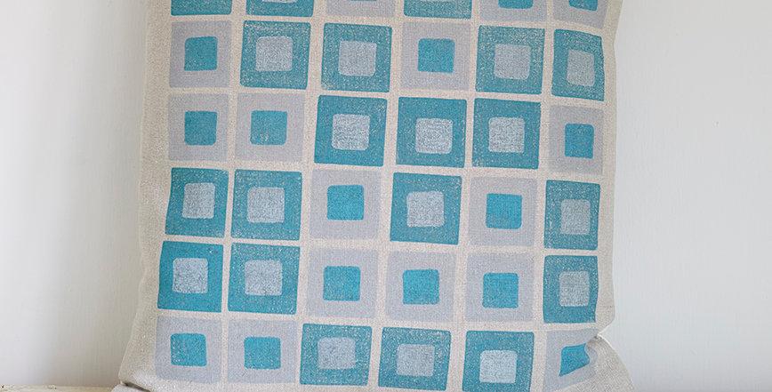 Square Squares  (Teal/Grey)
