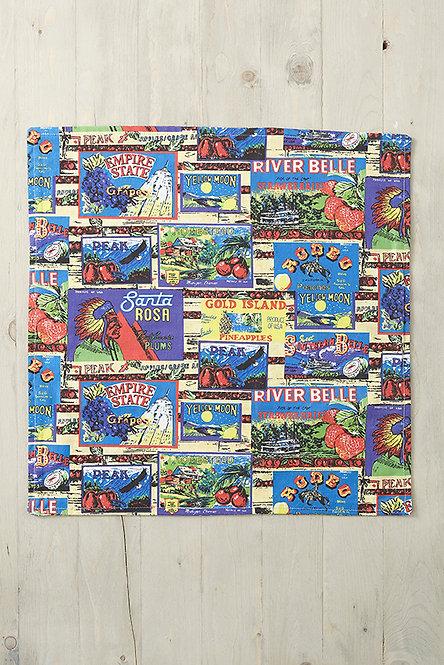 OK5120 - Vintage Labels Cushion Cover
