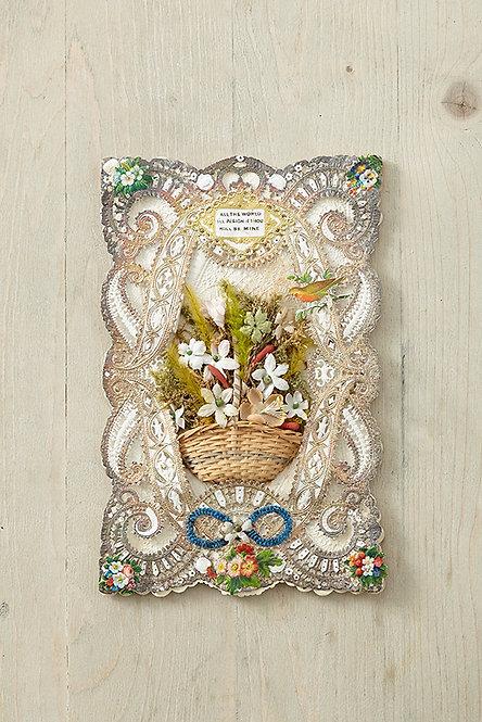 OK5107 - Flower Basket Valentine's Card