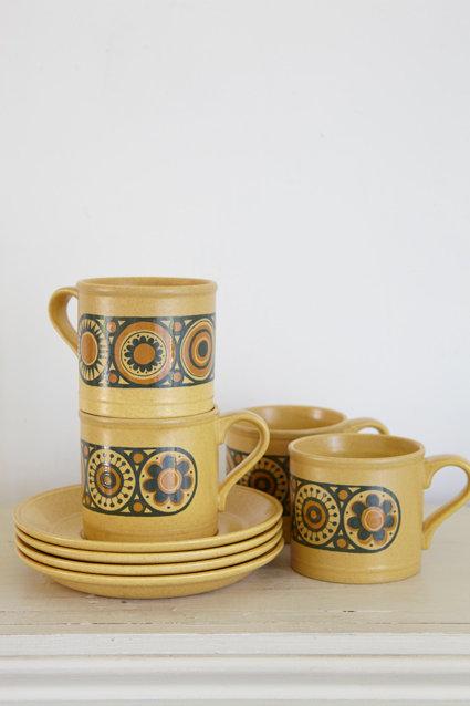 OK4417 - Four Kilncraft Cups & Saucers