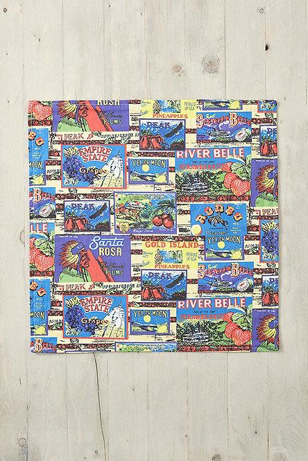 OK5121 - Vintage Labels Cushion Cover