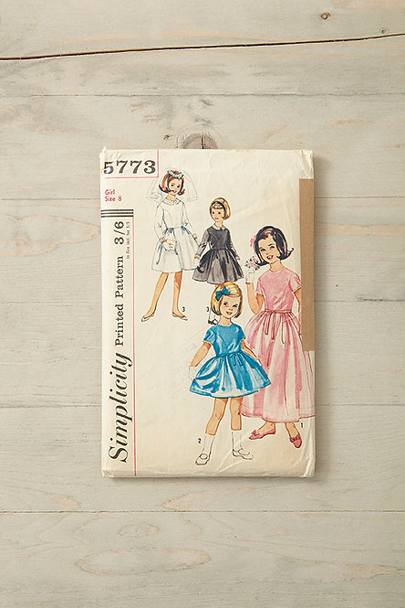 OK4925 - Vintage Girl's Dress Pattern