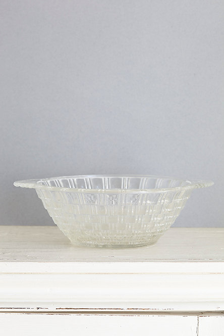 OK4770 - Basket Pattern Glass Bowl