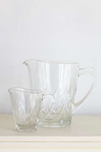 OK4113 - Two Vintage Glass Jugs