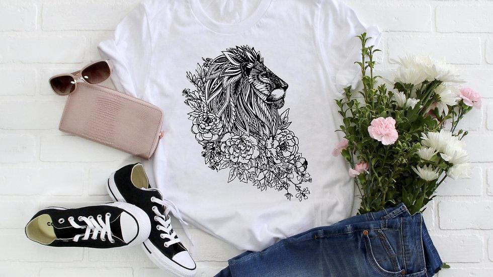Zentangle Lion Tee